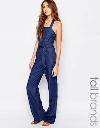 70s jumpsuit womens vero moda shirts shop vero moda halterneck 70 s denim