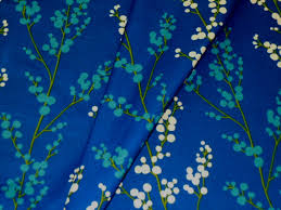 contemporary floral in nautical blue home decor fabric 9 jpg