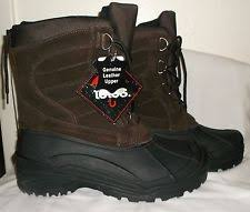 s totes boots size 11 s totes tempest brown boots waterproof leather 11 ebay
