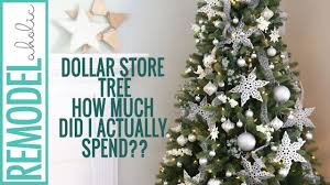 dollar store tree decorating tutorial silver and white