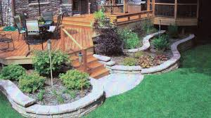 beautiful small backyard deck with stairs and outdoor dining room