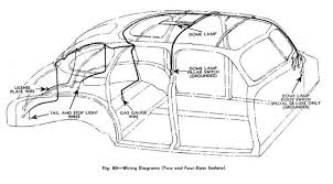 body wiring diagram for 1941 chevrolet passenger cars two and four