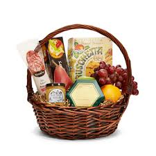 christmas fruit baskets christmas gift basket fruits sweet and savory snack in a basket
