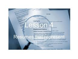 What Is The Purpose Of A Resume Resume Writing And Interviewing Skills Ppt Download