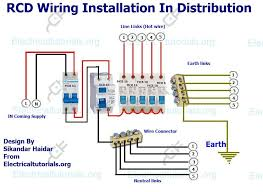 rcd wiring installation in single phase distribution board