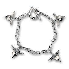 white charm bracelet images Official bon jovi sterling silver plated heart dagger charm jpg
