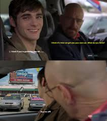 Walt Jr Breakfast Meme - walter jr loves breakfast breakingbad