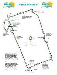 Map Of Marathon Florida by Course Map The Florida Marathon