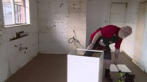 Bunnings Flooring Laminate How To Install Base Cabinet Diy At Bunnings Youtube