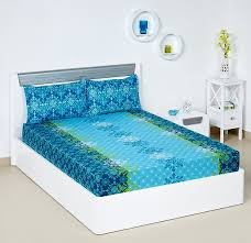 Bombay Dyeing Single Bed Sheets Online India Buy Bombay Dyeing Blumen 104 Tc Cotton Double Bedsheet With 2