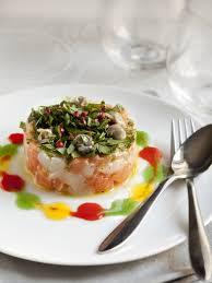 recette de cuisine saumon recette tartare de saumon et de jacques au coulis de poivron