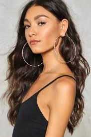 loop earrings tambourine hoop earrings shop clothes at gal