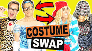 halloween costumes clothes swap challenge youtube