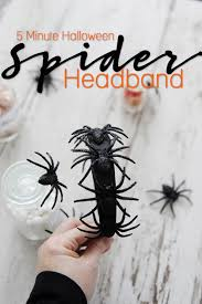 5 minute halloween spider headband