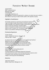 Sample Resume Objectives For Landscaping by Forestry Worker Cover Letter