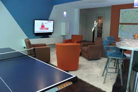 modern contemporary media room lounge interior design indianapolis