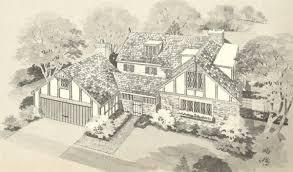 English Tudor Floor Plans Vintage House Plans 2274 Antique Alter Ego