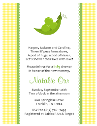 pea in a pod baby shower invitations theruntime com