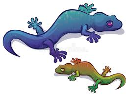 salamander k che lézard de salamandre de gecko illustration de vecteur