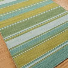 Turquoise Brown Rug Multi Color Stripes Dhurrie Rugs Other Styles Dhurrie Rugs