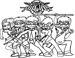 all grown up ninjas coloring page wecoloringpage