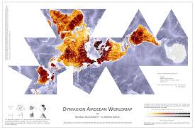 Detailed World Map Standard Time by Dymaxion Map Access To Urban Areas Maps Pinterest