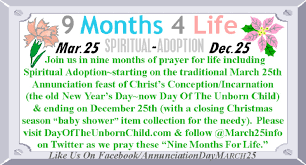 novena of thanksgiving 9 months for life mar 25 dec 25 prayer intentions from the