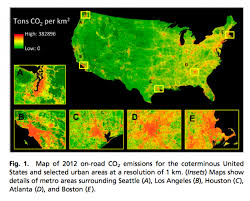United States Map With Mileage Scale urban sprawl cars hamper cities u0027 best efforts on co2 climate