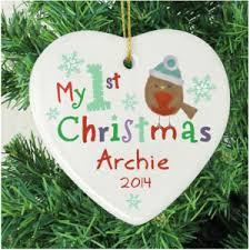 our top 5 personalised christmas tree decorations
