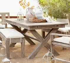 indio x base rectangular extending dining table pottery barn