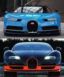 car bugatti 2016 bugatti veyron vs bugatti chiron in images