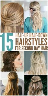15 simple hairstyles that are half up half down haar en kapsels