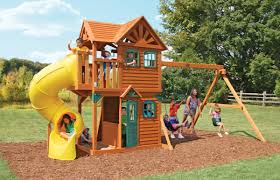 outdoor u0026 garden design cedar summit playset made of wood with