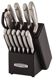 self sharpening kitchen knives farberware self sharpening 13 knife block set