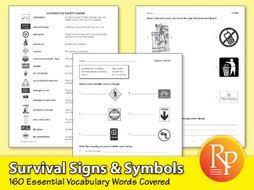 survival signs u0026 symbols essential vocabulary by remediapub