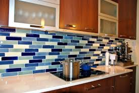 Kitchen Backsplash Blue Kitchen Backsplash Ideas For Kitchen Using Glass Tile Backsplash