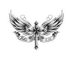 cross with wings design by protxtics deviantart com on
