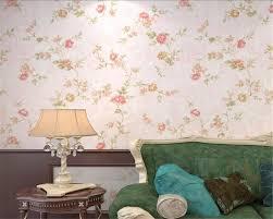 Floral Living Room Furniture Pink Light Green Modern Wallpaper Retro Floral Living Room Sofa