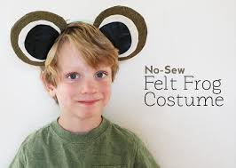 diy no sew costume frog costume