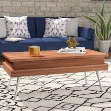 modern u0026 contemporary hidden storage coffee table allmodern