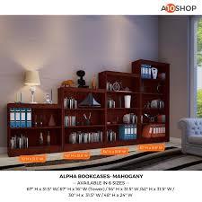 42 Wide Bookcase Buy Alpha Bookshelf U0026 Storage Cabinet With 2 Shelf 24