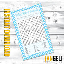 photo baby shower games word image