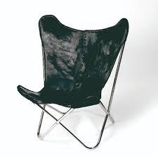 Black Butterfly Chair Butterfly Chair Black Leather Silv Legs Nordal Eu