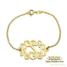 monogram bracelet gold 14 best monogram bracelet images on monogram bracelet