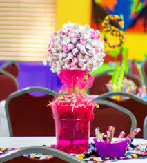 Candy Themed Centerpieces by Charm Tree Centerpiece For A Candy Themed Sweet Sixteen 6