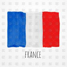 hand drawn watercolor france flag vector clipart image 70198