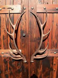 themed door knobs antler hardware rustic antlers doors and iron