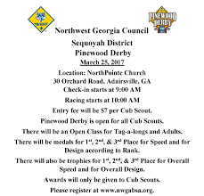 sequoyah district pinewood derby