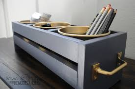 Nailed It Desk Organizer by Build A Cheap And Easy Ikea Bucket Organizer Remodelaholic