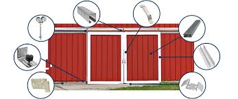 Exterior Sliding Barn Door Kit Track Hanger And Sliding Barn Door Systems Customize In 3 Steps